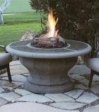 Inverted Smoke Firetable with Granite Inlay Top - Liquid Propane