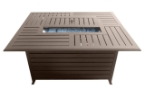 Rectangle Aluminum Slatted Firepit with SS Propane Burner
