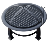 Wood Burning Firepit with Cooking Grate - 30 inch