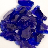 Recycled Fire Glass - Cobalt Blue