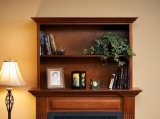 "Rio Grande Bookshelf Cabinet for 34"" Gallery Fireplace - Cherry"