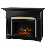 Black Holbrook Grand Electric Fireplace