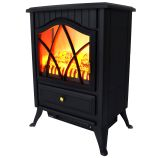 "AKDY AFP18D2PBK - 16"" Freestanding Electric Fireplace Heater"