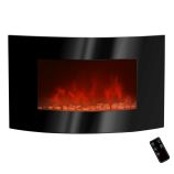 "Golden Vantage GFP520APB - 36"" Wall Mount Electric Fireplace Heater"