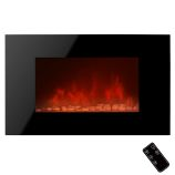 "Golden Vantage GFP510EPB - 36"" Wall Mount Electric Fireplace Heater"