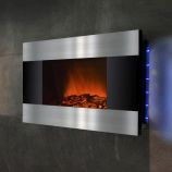 "Golden Vantage GFP510DLB - 36"" Wall Mount Electric Fireplace Heater"