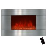 "Golden Vantage GFP510GPB - 36"" Wall Mount Electric Fireplace Heater"