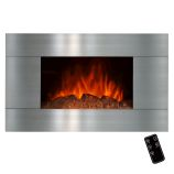 "Golden Vantage GFP510GLB - 36"" Wall Mount Electric Fireplace Heater"