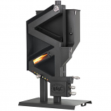 "Model GW-1949W Wiseway Pellet Stove with Window - For 4"" Pellet Vent"