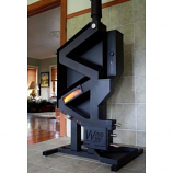 Model GW-2014W Tall Wiseway Pellet Stove with Window - Class A Chimney