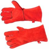 "Fireplace  Gloves - 13 1/2"" - Red"