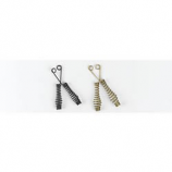 Black Fireplace Spark Screen Pulls, One Pair