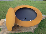 Saturn Fire Pit with Lid