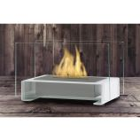 Gloss White Toulouse Tabletop Ethanol Fuel Fireplace
