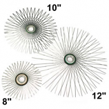 "12"" Flat Star Wire Brush For Viper, For 10"" Flue"