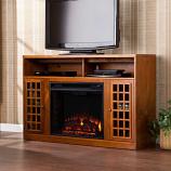 Akita Media Electric Fireplace-Glazed Pine