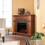 Cypress Electric Fireplace-Mission Oak