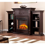 Fredricksburg Electric Fireplace - Bookcases-Espresso