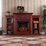 Fredricksburg Electric Fireplace - Bookcases-Mahogany