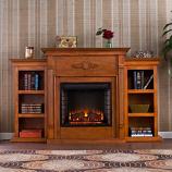 Fredricksburg Electric Bookcase Fireplace