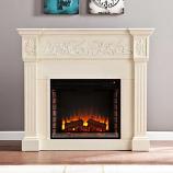 Huntington Electric Fireplace-Ivory