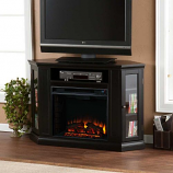 Ponoma Convertible Media Electric Fireplace-Black
