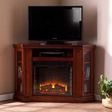 Ponoma Convertible Media Electric Fireplace-Mahogany