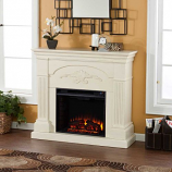 Salerno Electric Fireplace-Ivory
