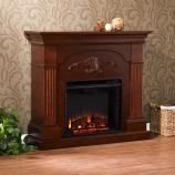 Salerno Electric Fireplace-Mahogany