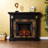 Weatherford Convertible Electric Fireplace-Black