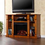 Murdock Media Electric Fireplace - Glazed Pine