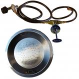 Round Pan Firepit Burner Kit - Propane