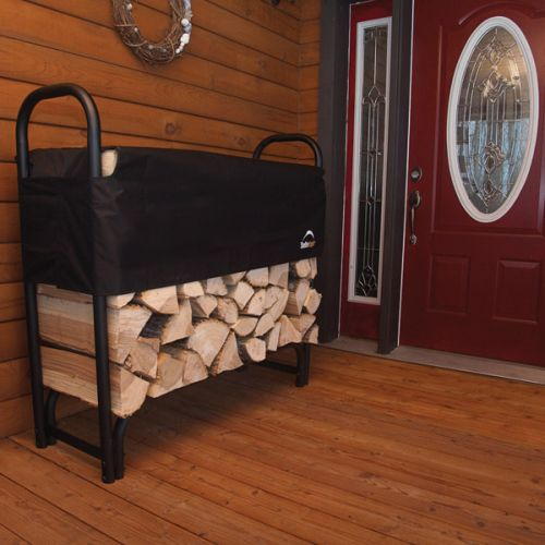 4 ft. / 1,2 m Heavy Duty Firewood Rack with Cover