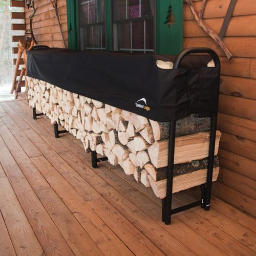 12 ft. / 3,7 m Heavy Duty Firewood Rack with Cover