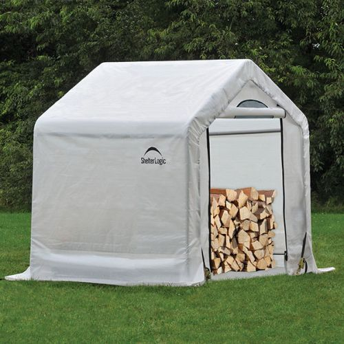 "5' x 3'6"" x 5' Seasoning Shed; 5.5oz Clear PE Cover"