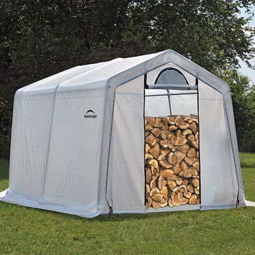10' x 10' x 8' Seasoning Shed; 5.5oz Clear PE Cover
