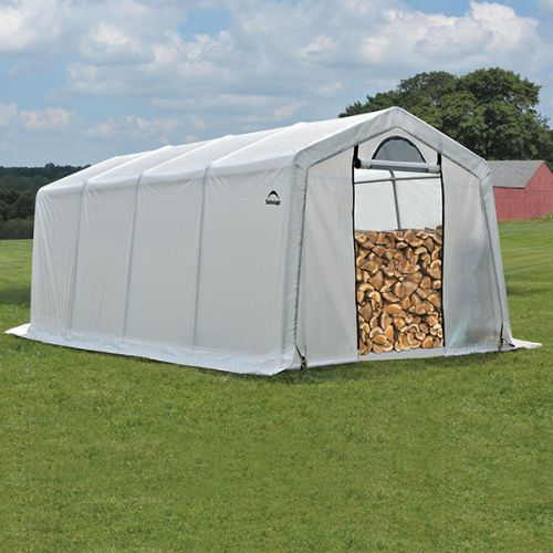 10' x 20' x 8' Seasoning Shed; 5.5oz Clear PE Cover