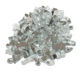 """10 LBS 1/4"""" Size Fire Glass- Silver"""
