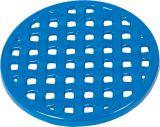"""7 1/4"""" Diameter Round Trivet In Blue Enamel Finish"""