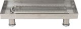 """24"""" 305 Stainless Steel Burner Pan With U-Burner"""