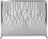 """31"""" H X 39"""" W Panel Screen Stainless Steel Modern Abstract Design"""