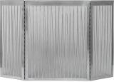 "32"" H X 50"" W 3 Fold Linear Screen - Satin Nickel"