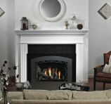 Traditional Large Luxury DV Fireplace Insert - Natural Gas