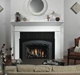 Traditional Large Luxury DV Fireplace Insert - Liquid Propane