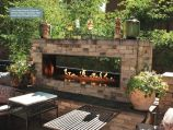 """Carol Rose Outdoor SS See-through 48"""" Linear Fireplace - NG"""