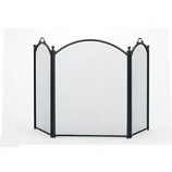 Woodfield  3-Panel Arched Black Fireplace Screen