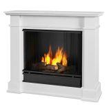 Devin Indoor Ventless Gel Fireplace, White
