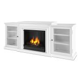 Frederick Entertainment Indoor Ventless Gel Fireplace, White