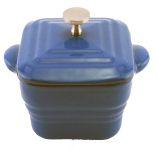 Blue Square Cast Iron Mini Casserole Pan
