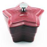 Cast Iron Star Mini Casserole Pan by Berghoff Internaional- Red